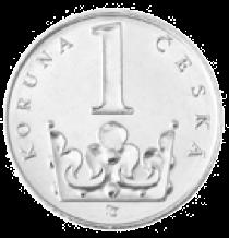 1 Kč mince pro srovnání